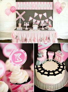 A Girlie & Glam, Train Themed Birthday Party