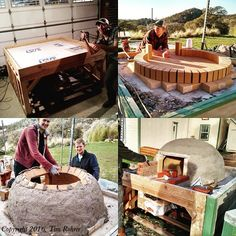 """""""Building a Wood-Fired Pizza Oven for Full-Barn Farms"""" Have you ever thought about building your own Wood Fired Pizza Oven? Tim Rohrer with Full Barn Farms, shares how they went about building a Wood Fired Pizza oven for personal and agritourism use.  From MOTHER EARTH NEWS Blog"""