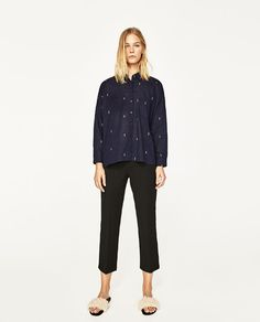ZARA - SALE - OVERSIZED EMBROIDERED SHIRT
