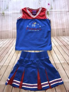 Red Oak Sportswear KANSAS JAYHAWKS Two Piece Cheerleader Uniform Size XS  | eBay Halloween Costumes For Sale, Kansas Jayhawks, Red Oak, Selling On Ebay, Cheerleading, Cheer Skirts, Sportswear, Girl Outfits, Rompers