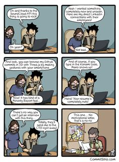 A coder's resume | CommitStrip - Blog relating the daily life of web agencies developers