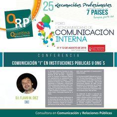 En II Foro #chile abordará #comunicacioninterna en Instituciones públicas y ONGs @diezflavio #quintinarrpp Asegura tu lugar en http://ift.tt/2a40Ecg