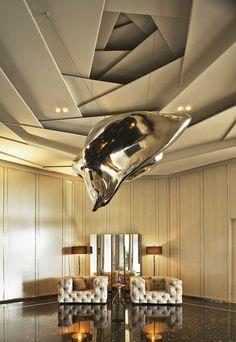 16 meilleures images du tableau d co faux plafond en - Faux plafond suspendu lumineux ...