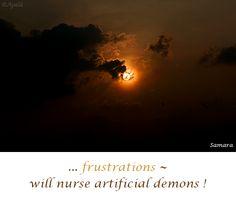 ... #frustrations ~ will #nurse #artificial #demons !
