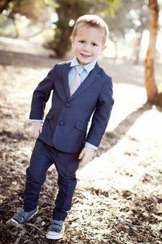 Sharp Grey Suit. little boy