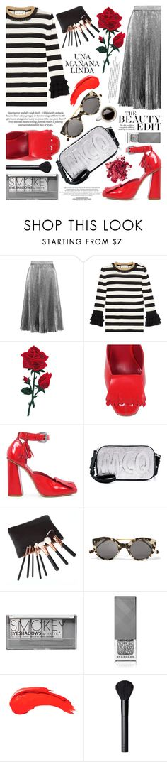 """""""20.09.2016"""" by liorosa ❤ liked on Polyvore featuring Christopher Kane, Gucci, SUNO New York, McQ by Alexander McQueen, Illesteva, Boohoo, Burberry, Anastasia Beverly Hills and NARS Cosmetics"""