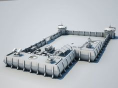 Scifi military model lab architectural, available in MAX, OBJ, FBX, ready for animation and other projects Spaceship Interior, Spaceship Design, Building Concept, Building Design, Blender 3d, Future Buildings, Space Engineers, Sci Fi Environment, Property Design