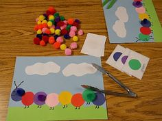 Learning & Teaching with Preschoolers shares a twist on color matching - use tongs and pom-poms to promote fine motor skills! Pinned by SPD Blogger Network. For more sensory-related pins, see http://pinterest.com/spdbn