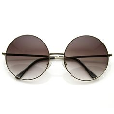 As seen on Khloe Kardashian. Unique oversize metal circle sunglasses are the largest metal circle frame we have yet to carry! Made with a metal based frame, metal hinges and polycarbonate UV400 protec