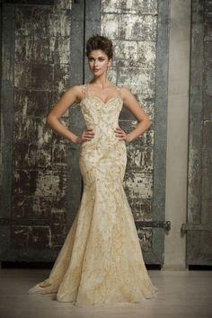 Champagne wedding dress lace - Enara Bridal Spring 2015 Wedding Dresses   itakeyou.co.uk