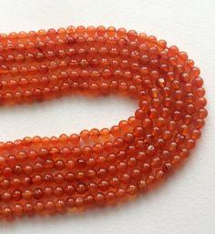 Carnelian Beads Carnelian Plain Round Ball Beads by gemsforjewels