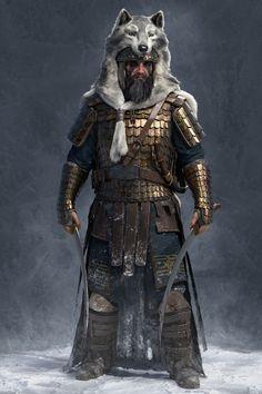 ArtStation - Getae warrior, Rodrigo A. Fantasy Armor, Dark Fantasy Art, Medieval Fantasy, Old Warrior, Tribal Warrior, Vikings, Dnd Characters, Fantasy Characters, Armor Concept