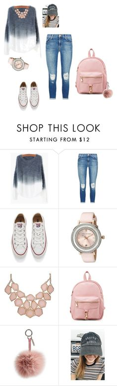"""Fancy High School Outfit"" by elle-41 on Polyvore featuring J Brand, Converse, Ted Baker, Fendi, women's clothing, women, female, woman, misses and juniors"