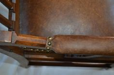 Preservation Solutions: Cat scratches after treated with Restoration Leather Conditioner.