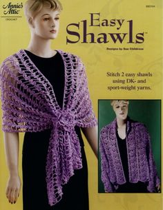 Wrap yourself in beauty with these 2 crochet shawl patternsBoth shawl wraps give just enough cover for a summer evening. The Crescent Shawl and the Irish Crochet Wrap are both crocheted using sport weight cotton. One size fits most. Skill Level: Easy to Intermediate