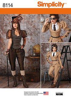 Steampunk Costumes simplicité modèle jeune femme : 8114