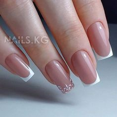 faded french nails Awesome - faded french nails Awesome - faded french na Classy Acrylic Nails, Classy Nails, Stylish Nails, Gold Nails, Cute Nails, My Nails, French Tip Nail Designs, Classy Nail Designs, Nail Swag