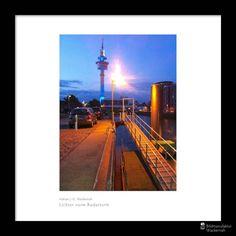 cool Fotografie »Lichter vorm Radarturm«,  #Hafenbilder #Nachts