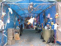 Halloween Decorations 2013--Inside the carport