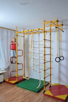 Gymnastic Wall Kids Sports Equipment Home Fitness Jungle Gym Climbing Tower Indoor Jungle Gym, Indoor Gym, Indoor Swing, Kids Gym Equipment, Exercise Equipment, Fitness Equipment, Gymnastics Bedroom, Basement Gym, Garage Gym