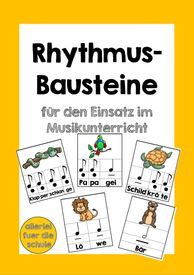 Rhythmusbausteine Musik - Teaching material in the subjects Interdisciplinary & Music - Grundschule sonstiges - Bildung Teaching Music, Teaching Kids, Teaching Materials, Music Lessons, Anchor Charts, More Fun, Kindergarten, Beautiful Pictures, About Me Blog