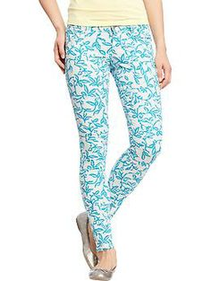 Womens The Rockstar Printed Skinny Jeans