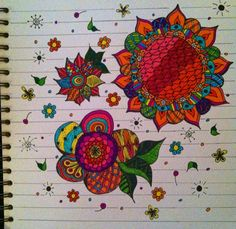 Journal page - Technicolor Flowers