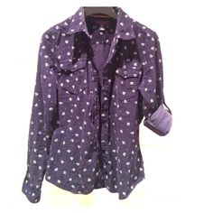 Tommy Hilfiger Women Button Down Shirt Only worn once. Great condition. Navy/white Tommy Hilfiger Tops Button Down Shirts