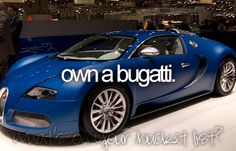 Because every 13 year old girl on tumblr can, and will, in fact own bugatti's, camaro's, hummer's, rolls royce's. get my drift.