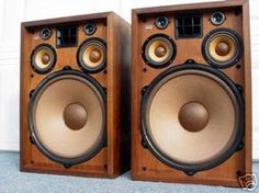 "This thread was inspired by the great ***Calling All ""Vintage"" Integrated/Receiver Owners*** to show all the great speakers out there that are vintage. Audiophile Speakers, Hifi Audio, Stereo Speakers, Tower Speakers, Radios, Retro, Hi Fi System, Great Speakers, Audio Sound"
