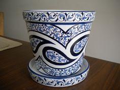 Cachepot azul marroquino