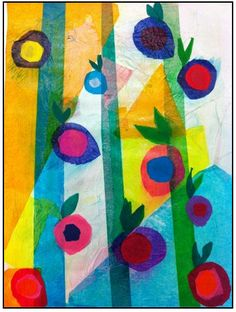 """The smARTteacher Resource: 3rd Grade """"April Flowers Bring May Tissue Paper Collage Flowers"""""""