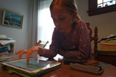Eva testing out her Compose Yourself song on the iPad.