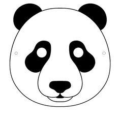 Masque de panda à télécharger