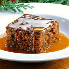 ginger bread cake with molasses butter rum sauce