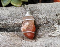 Crystal Quartz Necklace Lemurian Seed by MermaidTearsDesigns
