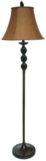 Crestview Collection CVARP230 Pinegrove Floor Lamp 8 X 16 X 10