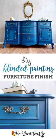 DIY Blending Painting Furniture Finish by That Sweet Tea Life