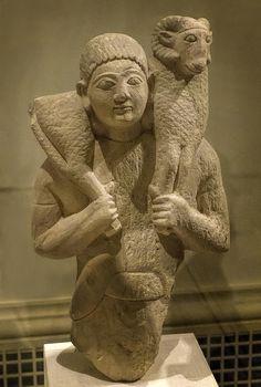 Limestone Hermes, ram-bearer Cypriot Archaic 6th century BC | Flickr - Photo Sharing!