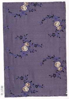 Textile sample Unknown Designer Date: ca. 1900 Medium: Silk Accession Number: 08.21.10