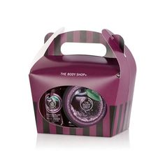 Treat someone to a touch of festive indulgence with these mini bath time treats in The Body Shop's special-edition Plum Treat Box Gift Set. These little luxuries come perfectly packaged in a sweet candy-striped box, making them great stocking fillers or Secret Santa gifts. Includes a Mini Frosted Plum Shower Gel, Mini Frosted Plum Body Butter & Plum Mini Crinkle Bath Lily