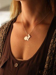 SALE Bunny Necklace Bunny Jewelry Bunny Rabbit by IvyByDesign