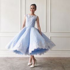 Blue French Lace Dress Prom Night Designs by Maizy Colleen IG: @MaizyColleen