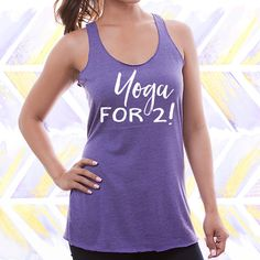 Yoga For 2 Maternity Tank Top / Pregnancy Announcement Shirt / Maternity Tshirt