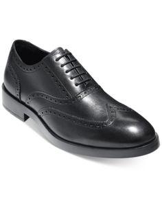3cd46347c3c Cole Haan Men's Henry Grand Short Wing-Tip Oxfords - Black 11.5 Brown  Oxfords,