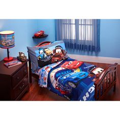 Disney - Cars Max Rev 4-piece Toddler Bed Bedding Set  For Gage's Room!!!
