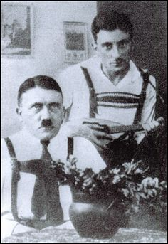 Hitler and Emil Maurice in Landsberg