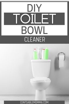 Remove toilet bowl stains and clean your toilet naturally with these toilet cleaning tips plus this DIY toilet bowl cleaner. Toilet Cleaning, Cleaning Hacks, Remove Toilet Bowl Stains, Distilled White Vinegar, Toilet Brush, Spring Cleaning, Diy, Bricolage, Do It Yourself