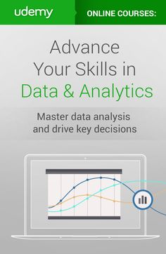 Data Science is one of the fastest growing fields with the highest paying jobs available today.  Advance your skills in Data and Analytics with this collection of modern online courses so you can get a higher paying job or just make better decisions in your current role. Learn to create visual representations, perform analysis & more. Become better with data today!
