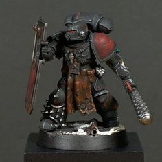 Demolition expert with his shiny new lenses, reworked metal and leather parts and some snow on his base. Warhammer Deathwatch, Warhammer 40000, Warhammer 40k Miniatures, Star Citizen, War Band, Marine Colors, Warhammer Models, Space Wolves, Mini Paintings